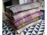 5 x Wool Picnic/Wedding/Rug/Blanket - 100% Wool British Made Tweedmill