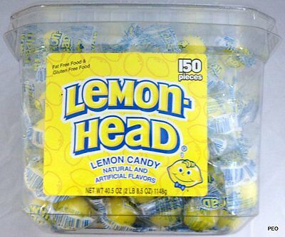 Lemonheads Ferrara Pan 150 Count Tub Candy Lemon Head Bulk Candies Lemonhead