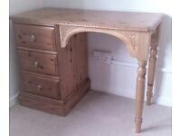 SOLID PINE DRESSING TABLE WITH 3 DEEP DRAWERS