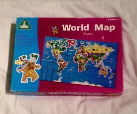 EARLY LEARNING CENTRE 100 PIECE WORLD MAP JIGSAW PUZZLE 5+ YEARS COMPLETE.