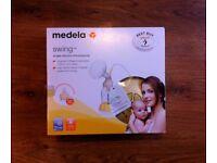 """Like New!""Award winning electric breast pump- Medela Swing Kit (RRP£134.99)& Bottles3pk(RRP£11.99)"