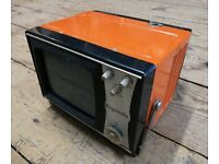 Vintage Retro Portable Rigonda Fiesta TV Television and Original Box Instruction