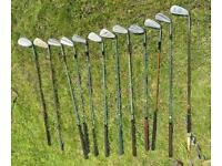 Twelve Iron Golf Clubs