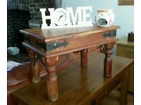 Small Indian oak Coffee table