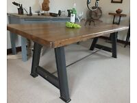 New 7ft Bespoke Vintage Industrial Rustic Style Dining Kitchen Table