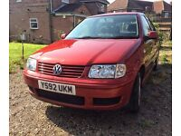 VW Polo 1.4L. £150 ONO. Non-runner (buyer collects). MOT expired July 2016. Partial service history.
