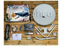 Ross HD Satelite TV DIY kit - receiver, dish, cable etc - new/never installed - £25ono