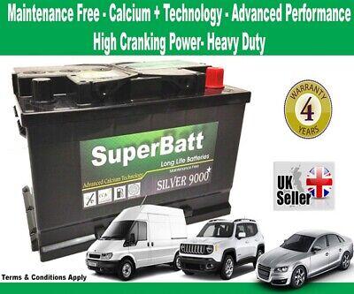 FORD Car & Van OEM Replacement Battery TYPE 100 - SuperBatt 100 - 12V 75AH 700A