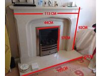 Limestone Derby Fireplace (Professionally removed)