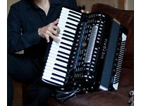 Italian accordion 'Victoria' 120 bass with converter + Sennheiser mic