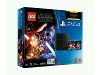 BRAND NEW Sealed Playstation 4 Bundle Star wars force awakens Game and Blue ray