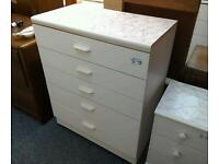 White chest of drawers #24467 £39