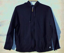"""SW Sportswear 10/12 Ladies or Men's Blue Zip Up Hoodie Jumper C45"""""""