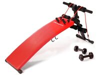 Ultrasports Sit-up Bench with bumbbells for £25.00