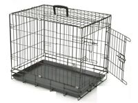 Small Dog Cage with Handle + 2 Doors (60x45x53cm)