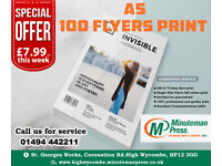 High quality flyers printing only £7.99!!!