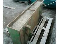 Tractor front loader weight with euro brackets fitted