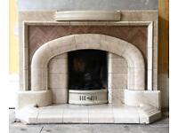 Vintage tile fireplace