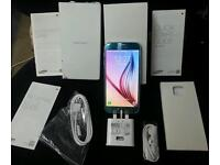 SAMSUNG GALAXY S6 32GB COLD BLUE TOPAZ COLOUR LIMITED EDITION UNLOCKED GOOD CONDITION FULLY BOXED