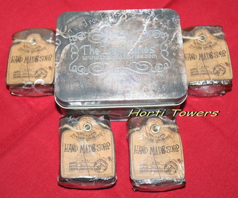 """The Iron Fairies"" RARE TIN + 4x SOAPS (unstamped, ex factory exclusive) - rare!"