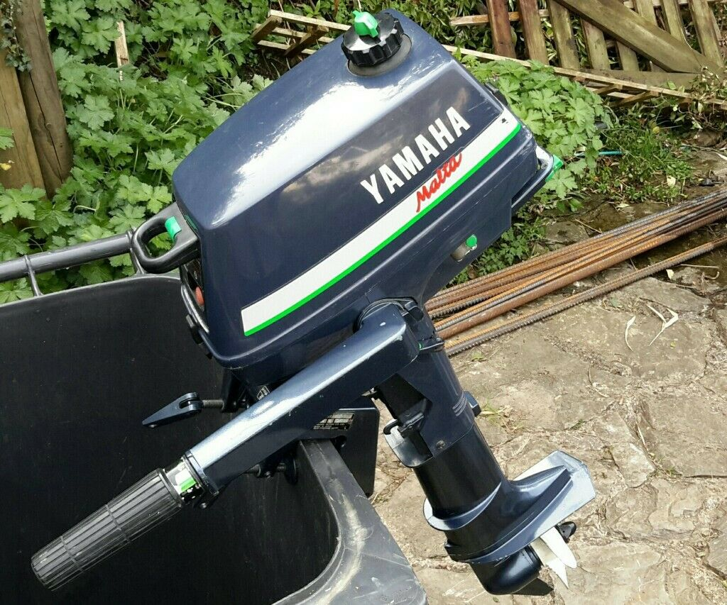 3hp outboard motor, Yamaha Malta, 2 stroke, used for less than 20 hours,  stored indoors  | in Ilfracombe, Devon | Gumtree