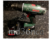 Bosch PSB18 Li-2 18v cordless hammer drill with TWO batteries - gwo - £45ono