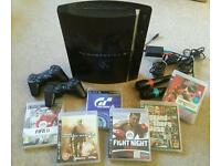 PS3 Playstation console with games
