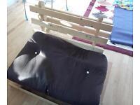 Single futon and frame