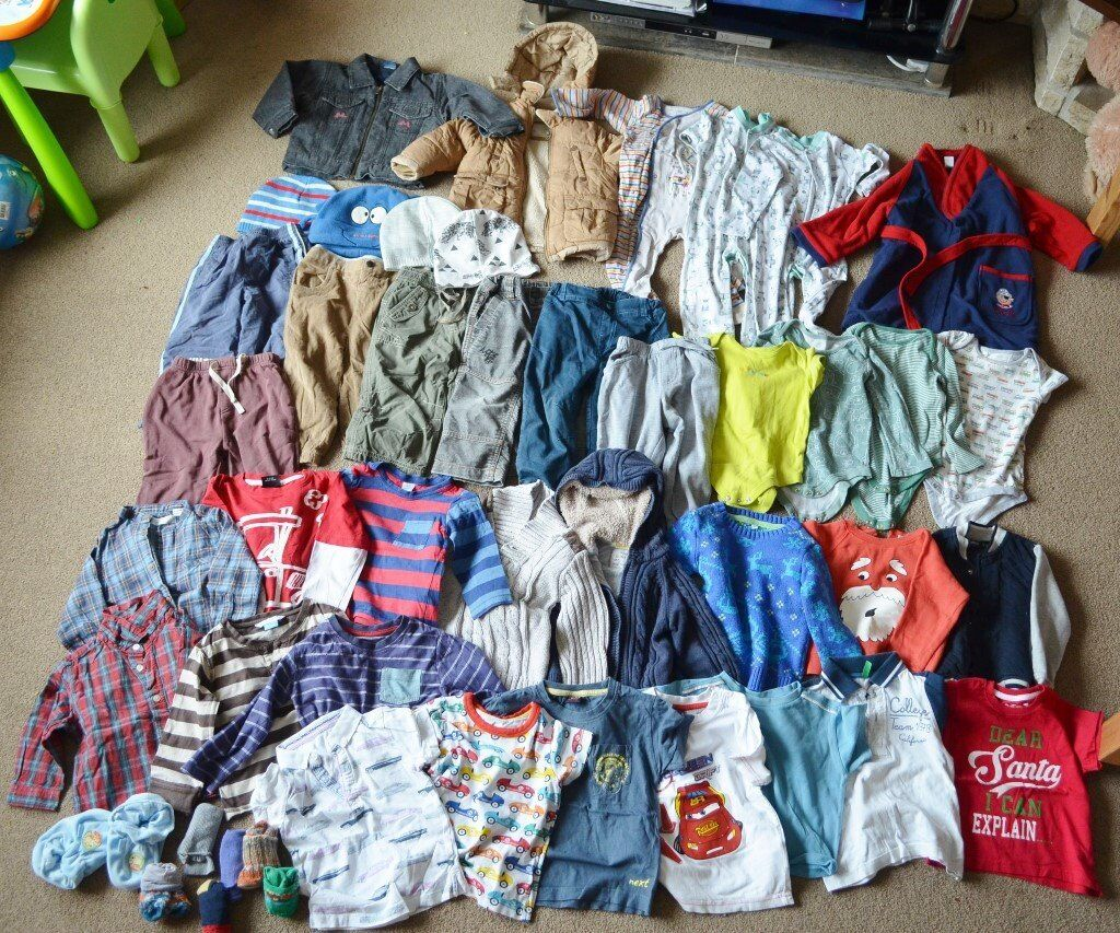 38c132787632 Huge baby boy bundle clothes 18-24 months - trousers, jumpers,,  tops,sleepsuits