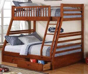 BUNK BEDS FOR KIDS - BUY KING, QUEEN AND DOUBLE SIZED PLATFORM BEDS (BD-1076)
