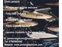 Drum Lessons - All Abilities Welcome | DBS Checked