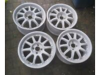 "4x100 16"" team dynamics alloy wheels REFURB SANDBLASTED"