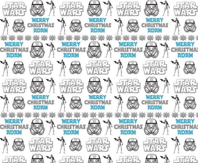Personalised Christmas Wrapping Paper Star Wars Style Gift Wrap | eBay