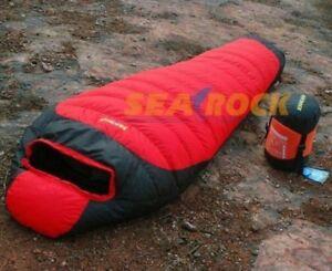 Searock 1000g White Duck Down Sleeping Bag mummy -25 degrees