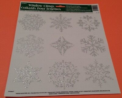 Decorations Of Frozen (Set of 36 Frozen Snow Flake Glitter Window Clings Silver Snowflakes)