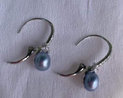 Sterling Silver HONORA Pearl Earrings.