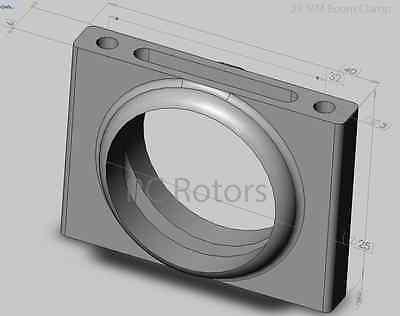25mm Boom tube Clamp CINSTAR DROIDWORX OCTOCOPTER DJI  UAV MIKROKOPTER MULTIROTO