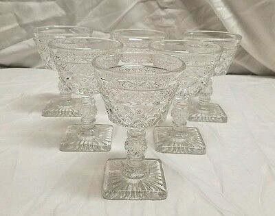 6  IMPERIAL GLASS CAPE COD  FOOTED LIQUOR COCKTAIL GOBLETS