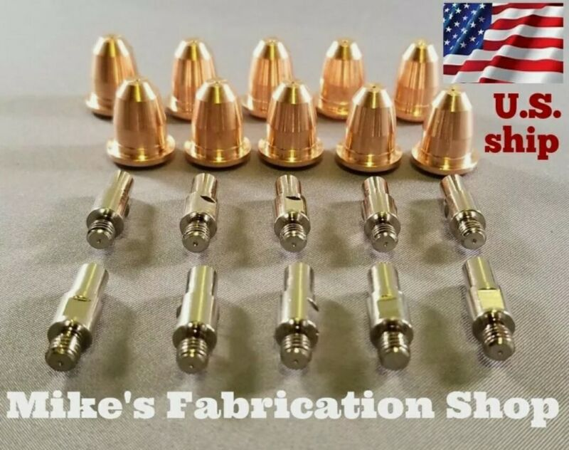 20 Piece Nozzles and Electrodes for Ironton plasma cutter 96473 96474 96468