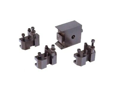 Value Collection Series Micro Tool Post Holder 4pc Set For 5 To 8 Lathe Swing