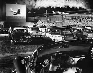 Old West Virginia Outdoor Drive In Movie Theater Screen Train Steam Engine Photo