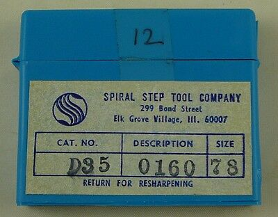 12 Spiral Step Tool 78 .0160 Dia. 1.5 Oal Solid Carbide Pcb Drill Bits Usa