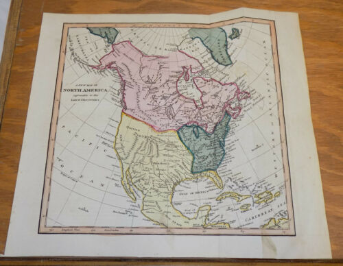 1817 Antique COLOR Map by Cooke///NORTH AMERICA