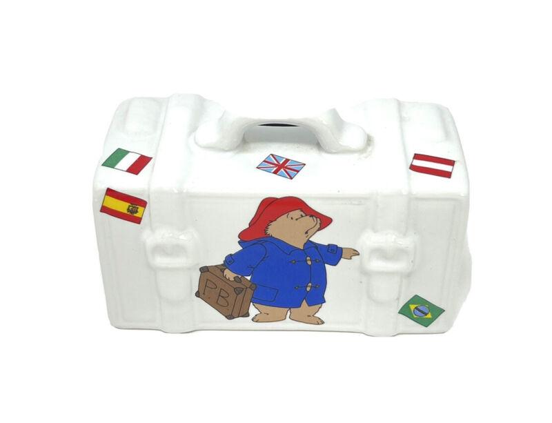 Paddington Bear Suitcase Traveller Coin Bank Reutter Porzellan Germany 1998 BN1