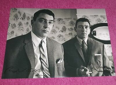 THE KRAY TWINS. RONNIE & REGGIE KRAY. VALLANCE ROAD. SIGNED POSTER. GANGSTERS.