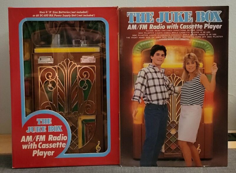 Yuletide Concepts The Juke Box AM/FM Radio With Cassette Player- Tested/Working!