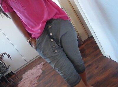Neu Short M L Kurze Hose Grau Bermuda Pant Baumwolle Chic Boyfriend Musthave 40