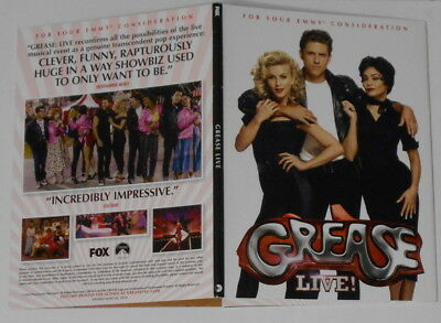 Grease Live  Fox 2016 U.S. promo FYC dvd in custom cover