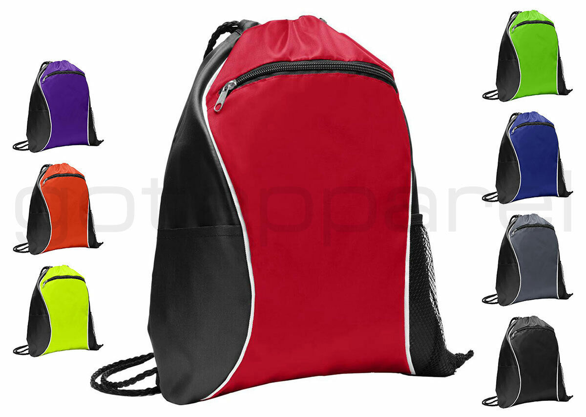 Final 4 Drawstring Backpack Sports Athletic Gym Cinch Sack String Storage Bags for Hiking Travel Beach