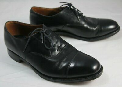 Pair Cheaney Adelphi 5 Tie Cap Toe Oxford Shoes in Black Size 8 ½ / 8.5 for sale  Shipping to Nigeria